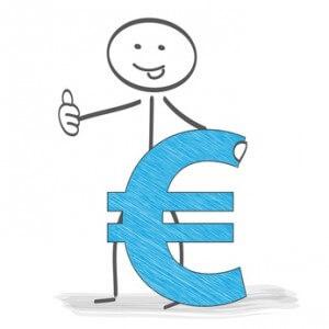 Strichmännchen mit Euro Zeichen