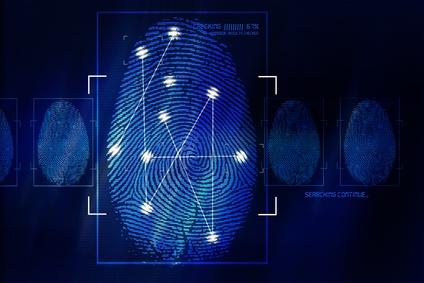 Fingerabdruck blau