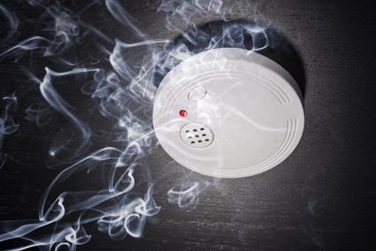 Rauchmelder und Brandrauch